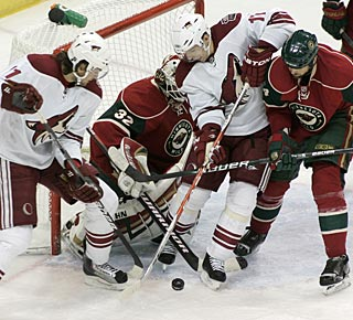Radim Vrbata (center) has a goal and an assist, giving him points in three of the last four games. (AP)
