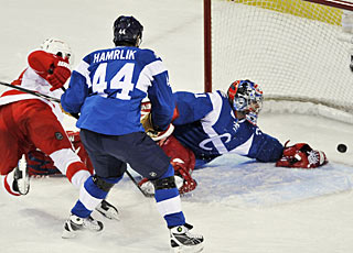 Carey Price can't stop Brad Stuart's shot from getting past him for a goal in the first period. (AP)