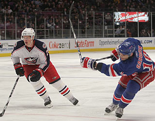 Marian Gaborik (right) scores two goals for the second time in the last three games. (Getty Images)