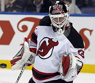 Martin Brodeur turns away 22 shots to pick up his record-tying 103rd career shutout.  (AP)