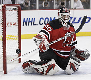 Martin Brodeur plays in his 1,029th regular-season game, all with the Devils. (US Presswire)