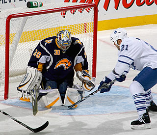 Ryan Miller wins his 20th game of the season, also his 20th career win versus Toronto. (Getty Images)