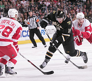James Neal scores a goal in the second and one in the third to reach 15 for the season. (Getty Images)