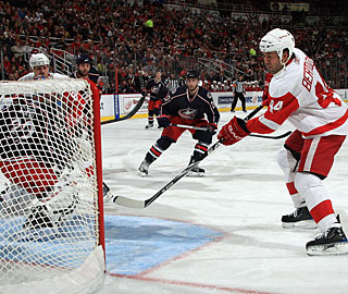 With so much open net available, Todd Bertuzzi makes no mistake for the winning goal. (Getty Images)