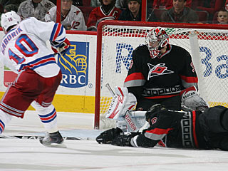 Marian Gaborik does not score on this chance, but he does set up both Rangers goals. (Getty Images)