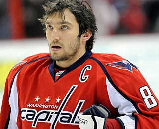 Alex Ovechkin does not have a point in his debut with the C, but he'll take the team win. (Getty Images)