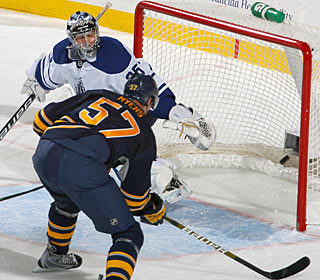 Tyler Myers is the first Sabres defenseman to score two goals in a game since Feb. 19. (Getty Images)