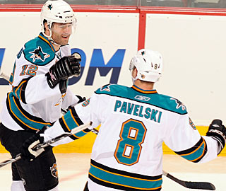 Patrick Marleau has scored two goals or more in eight games to this point of the season. (Getty Images)