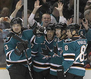 The Sharks give the home fans a treat with a record-breaking night of individual scorers.  (Getty Images)