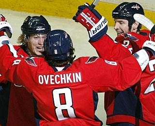 Nicklas Backstrom has a goal and two assists, while Mike Knuble scores two goals, with one assist. (AP)