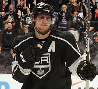 Anze Kopitar is on a scoring tear, with points in eight straight and 13 of 15 games. (Getty Images)