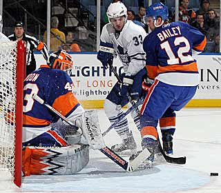 After allowing a goal in the opening minute, Martin Biron stops the rest of Toronto's shots. (Getty Images)