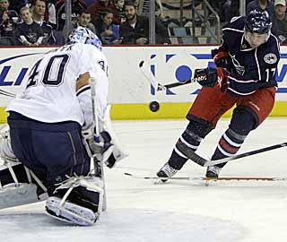 The Blue Jackets' five goals are two more than their output of the previous two games. (AP)