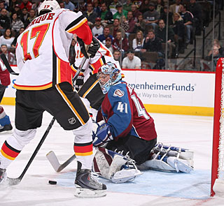 Rene Bourque scores at least two goals in a game for the second time this season. (Getty Images)