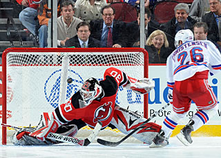 As the only shootout scorer, Erik Christensen gives the Rangers two important points. (Getty Images)
