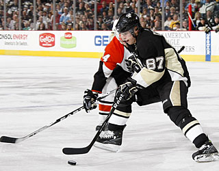 Sidney Crosby sets up three goals in a game for the second time this season. (Getty Images)