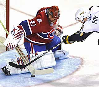 Jaroslav Halak's second shutout in as many nights helps keep Montreal sixth in the East. (AP)