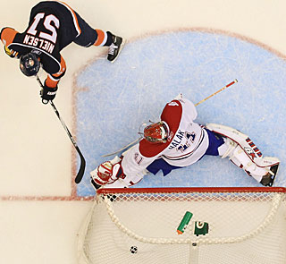 After tying the game in regulation, Frans Nielsen also nets the winning goal in the shootout. (Getty Images)