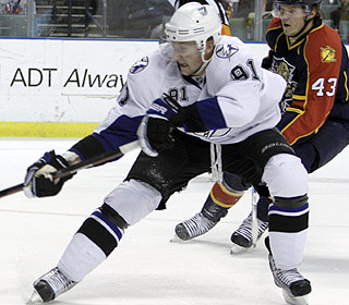 Steven Stamkos wraps an impressive season and is the third-youngest player to reach 50 goals. (AP)