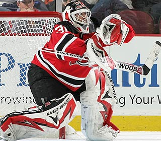 It's another Jennings Trophy for Martin Brodeur, who allows the fewest goals in the league. (Getty Images)
