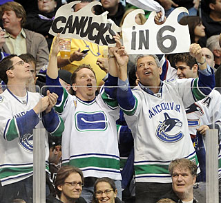 Message from Canucks fans -- their team in 6. But the Kings might have different plans. (Getty Images)