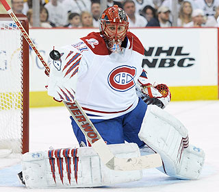 Jaroslav Halak is a beast in the net as he stands tough under withering Pittsburgh pressure. (Getty Images)
