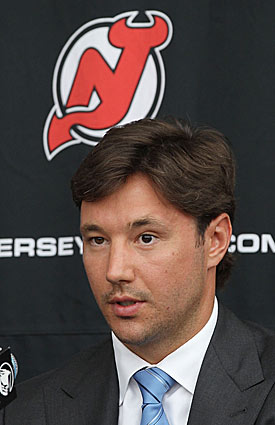 Kovalchuk's NHL future remains up in the air thanks to salary-cap issues. (Getty Images)