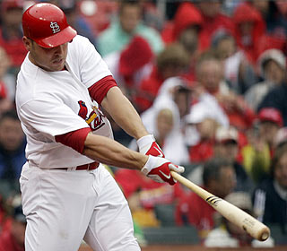Matt Holliday ends a six-game RBI drought by driving in two with two doubles for St. Louis. (AP)